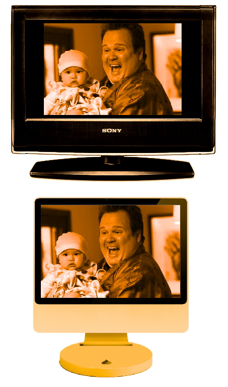 televisual modern family web vs tv