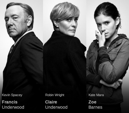 house of cards kevin spacey frank claire underwood zoe barnes